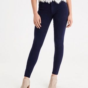 American Eagle Dark Blue High Waisted Jeggings, 0